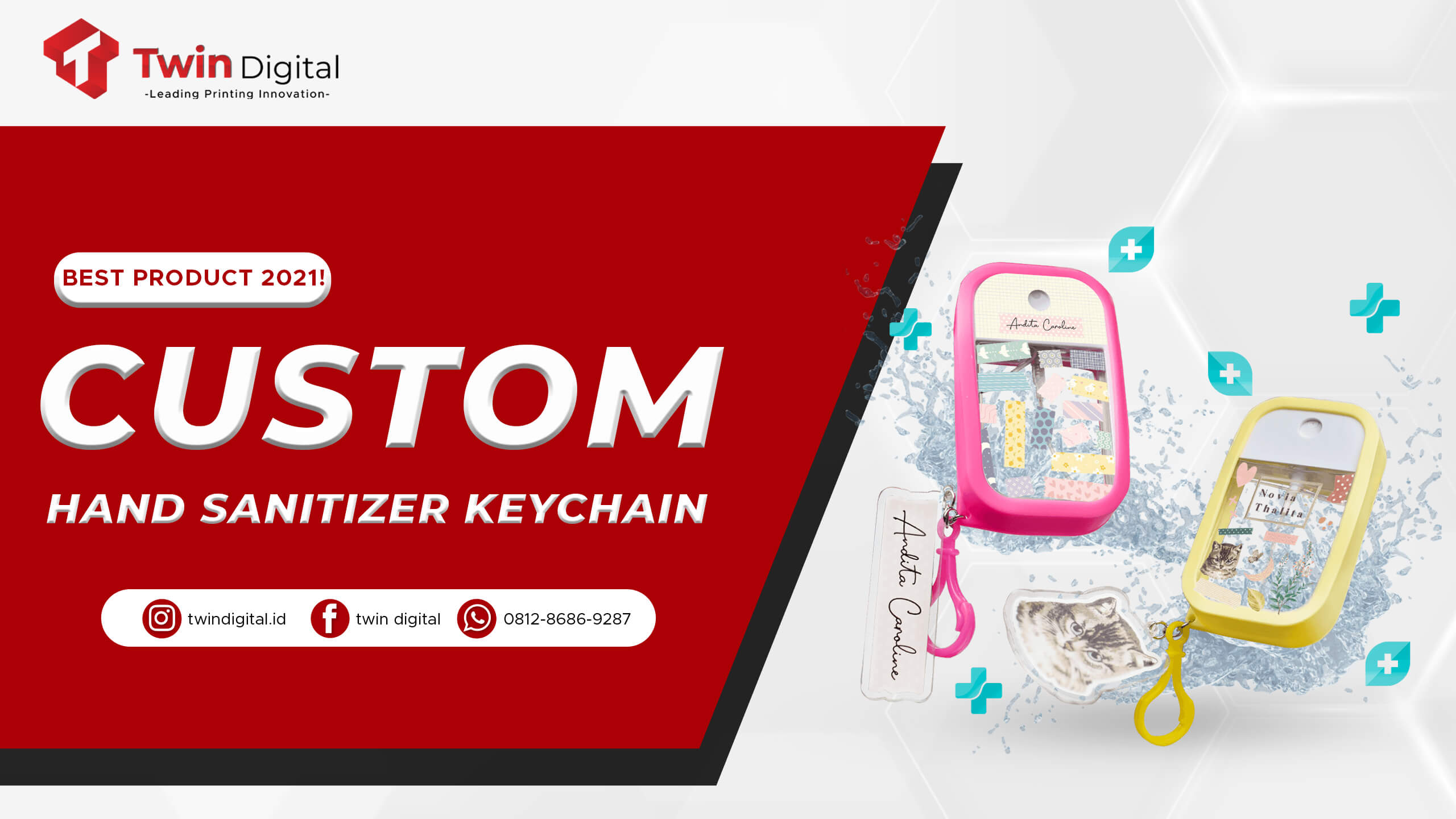 Custom Hand Sanitizer Keychain