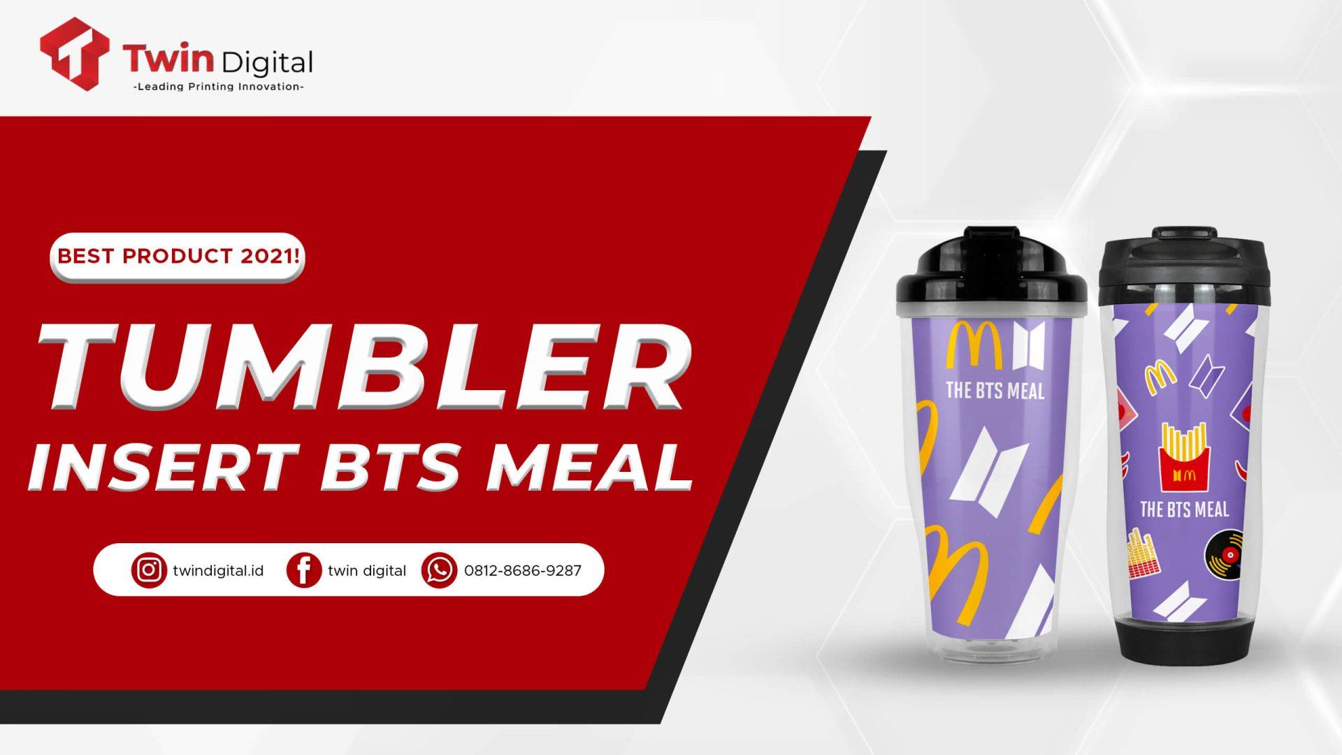 custom tumbler insert BTS Meal